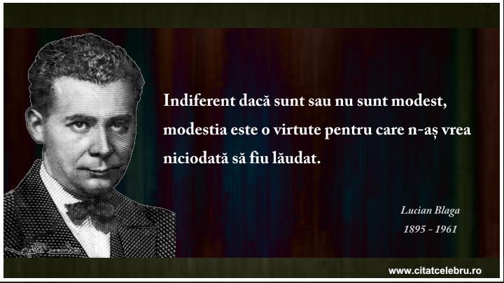 Lucian Blaga - despre modestie 2
