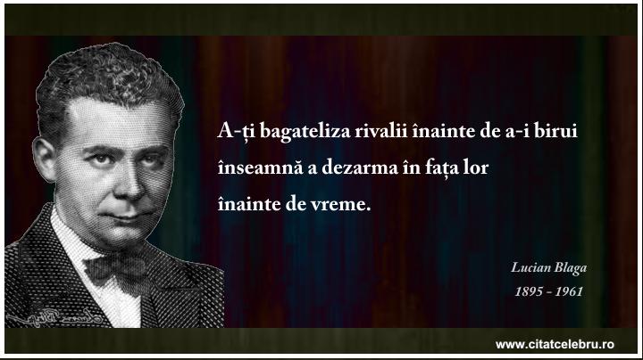 Lucian Blaga - despre rivali